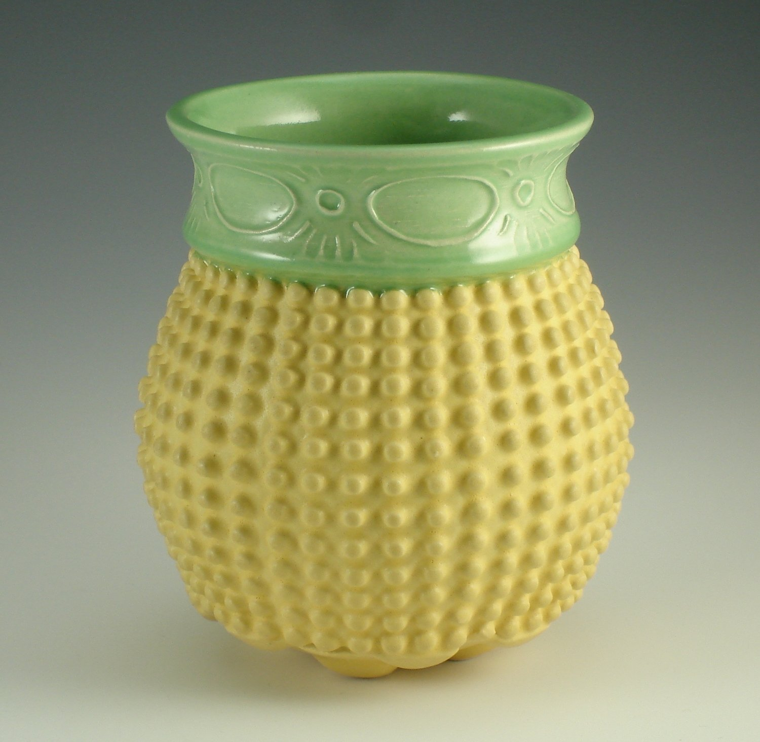 Touchy Libation in green & yellow