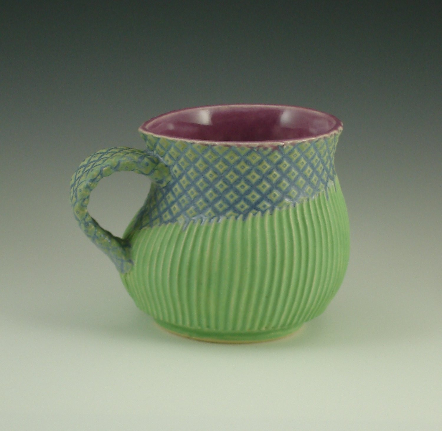 She Cup in a tiny 10oz size, in gum, mermaid & green
