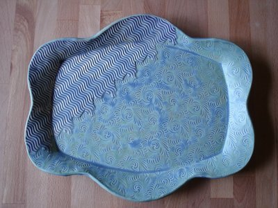 Platter in purple & mermaid
