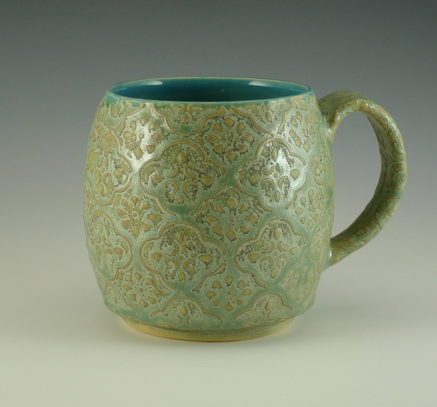 Oregon Cup in turquoise & mermaid