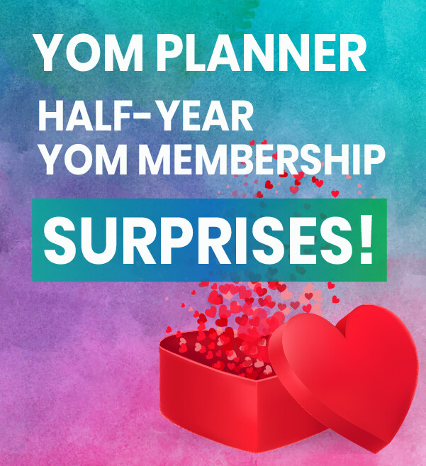 Half-Year YOM Membership and A5 YOM PLANNER 2019 - Hard Copy + SURPRISES!