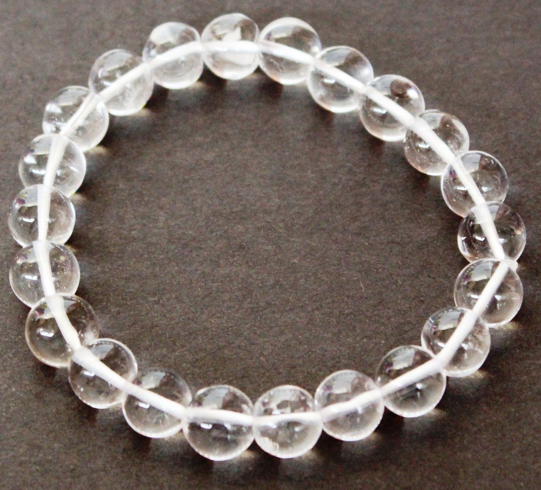Sphatik or Clear Quartz  Crystal 8 MM bracelet