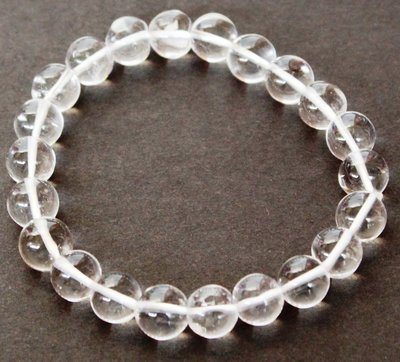 Sphatik or Clear Quartz  Crystal 8 MM bracelet
