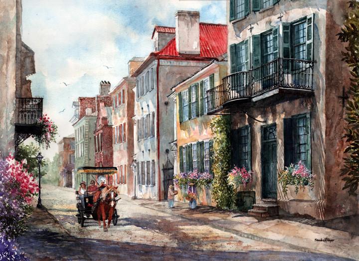 Historic Tradd Street, Charleston, SC