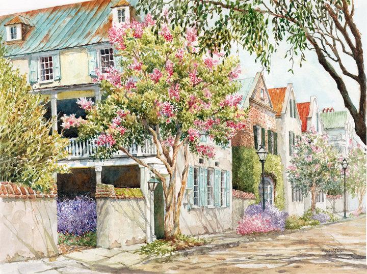 Sunlit Streets of Chharleston