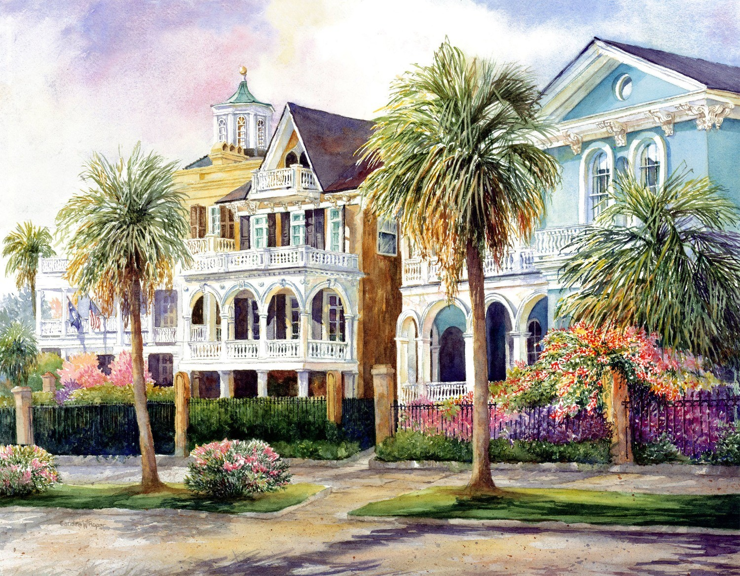 South Battery Antebellum Homes