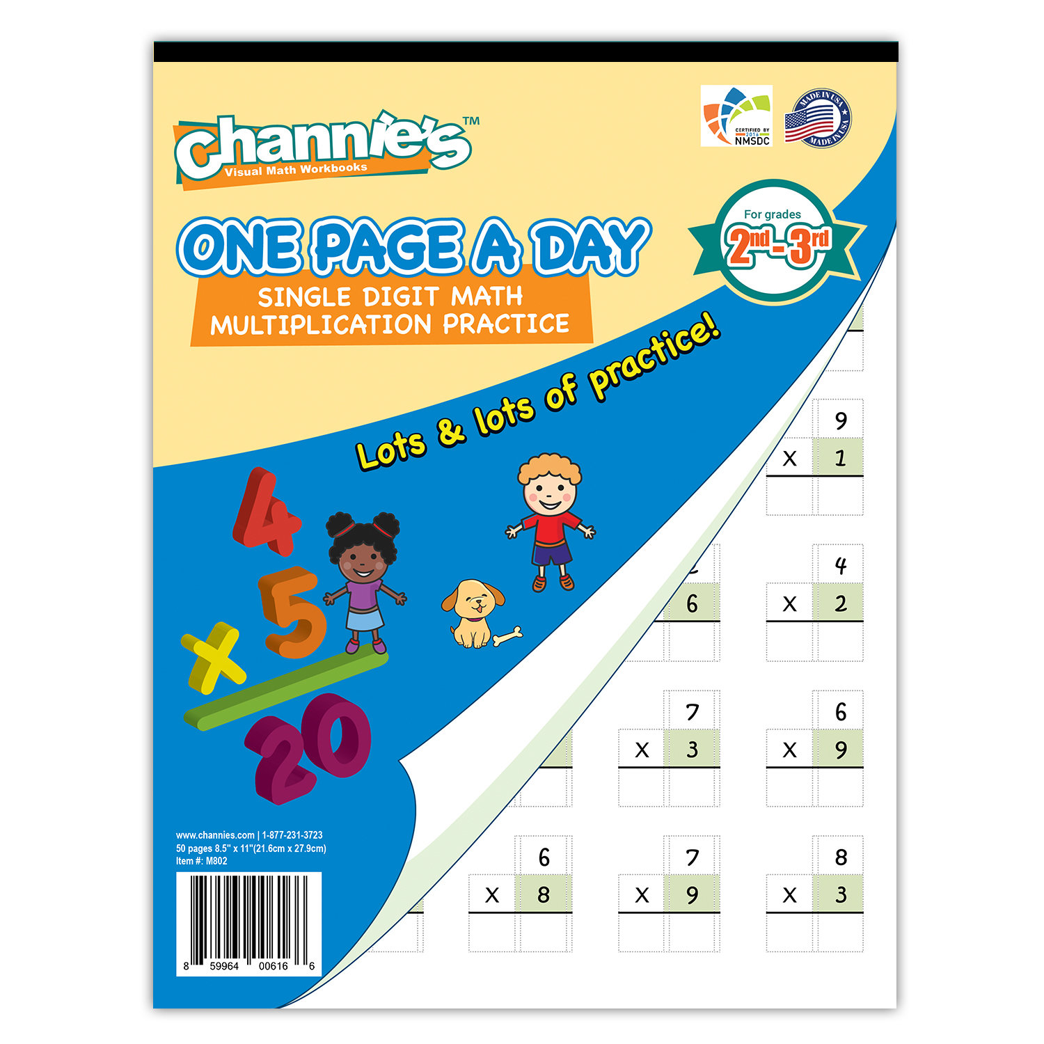One Page A Day Single Digit (Beginner) Multiplication for 2-3rd