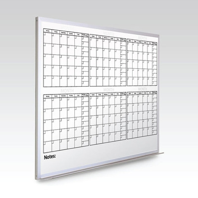 Custom 6 Month Whiteboard Calendar  48 x 60 At A Glance