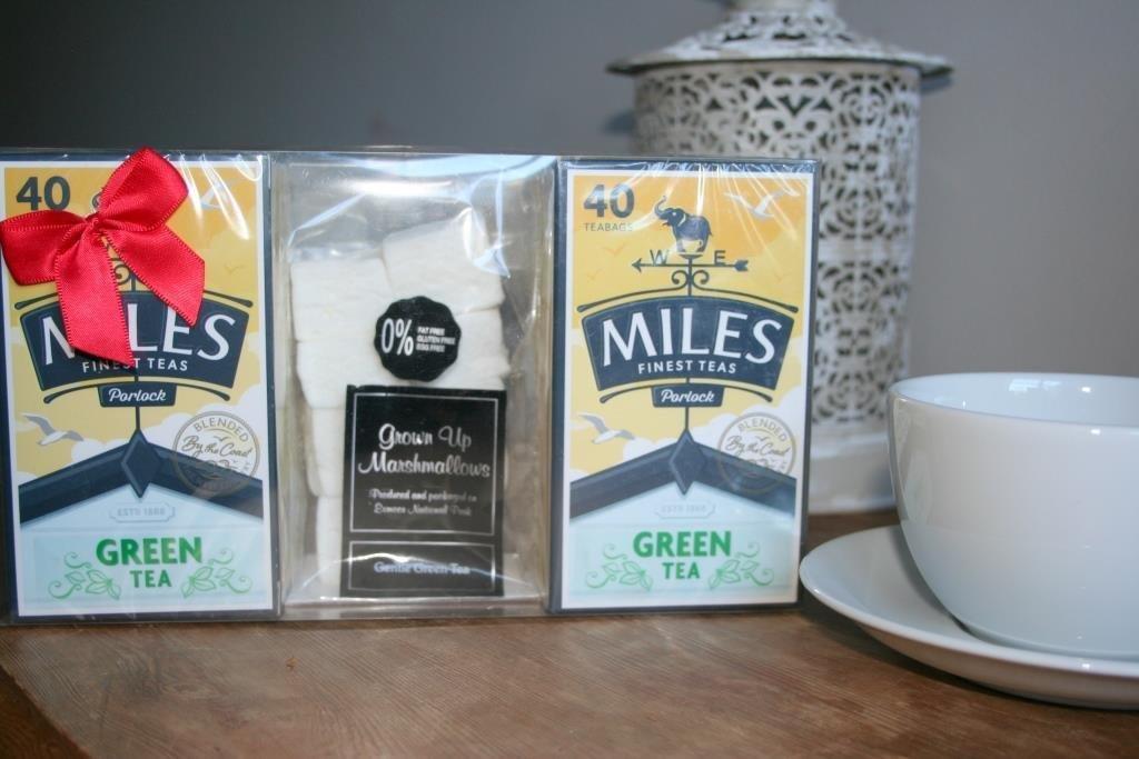 Miles Green Tea and Green Tea Marshmallow Gift Box