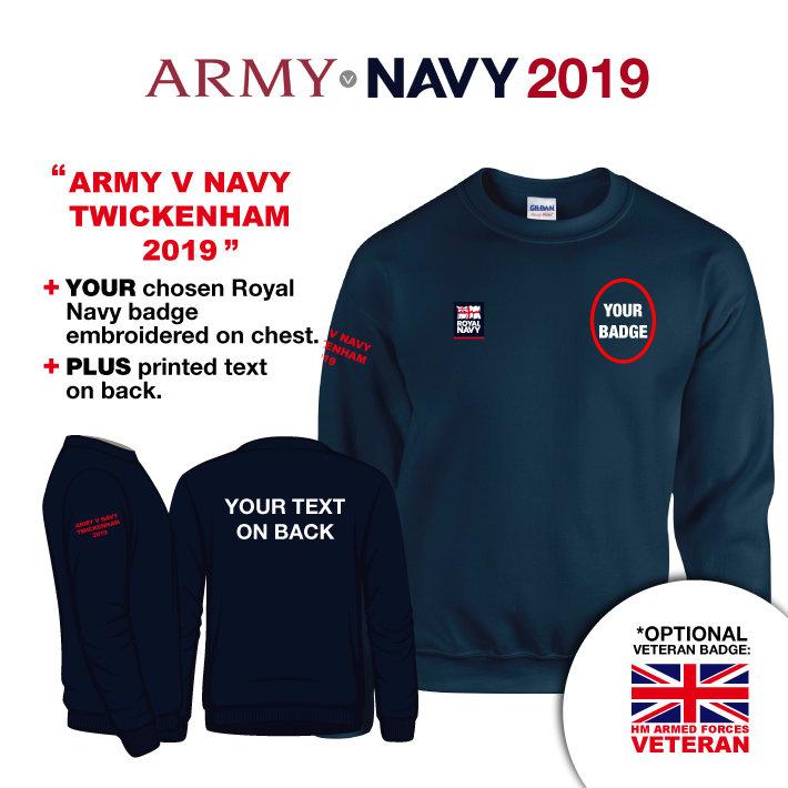 f3373965b Army v Navy 2018 - Royal Navy Sweatshirt Jumper