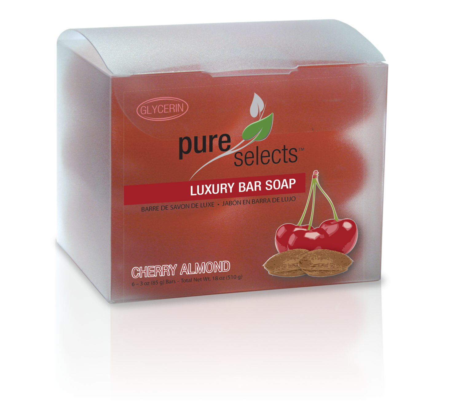 Glycerin Facial Bar Cherry Almond 6 Pack