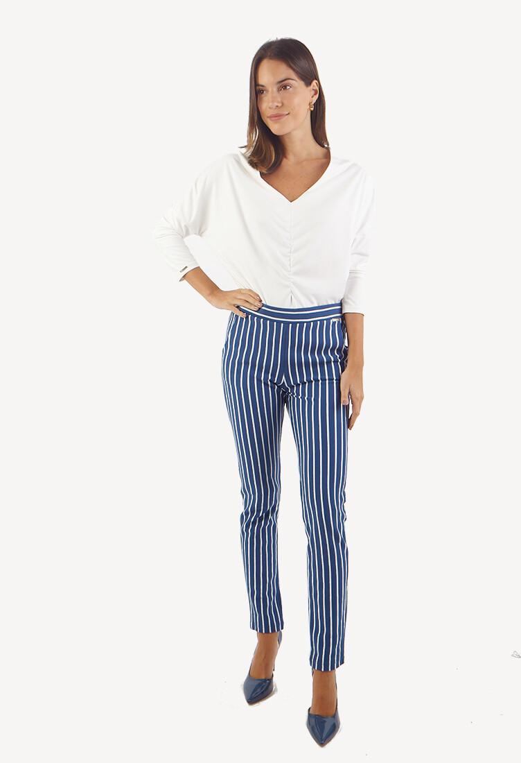 Pantalon Buzo Acero con Rayas