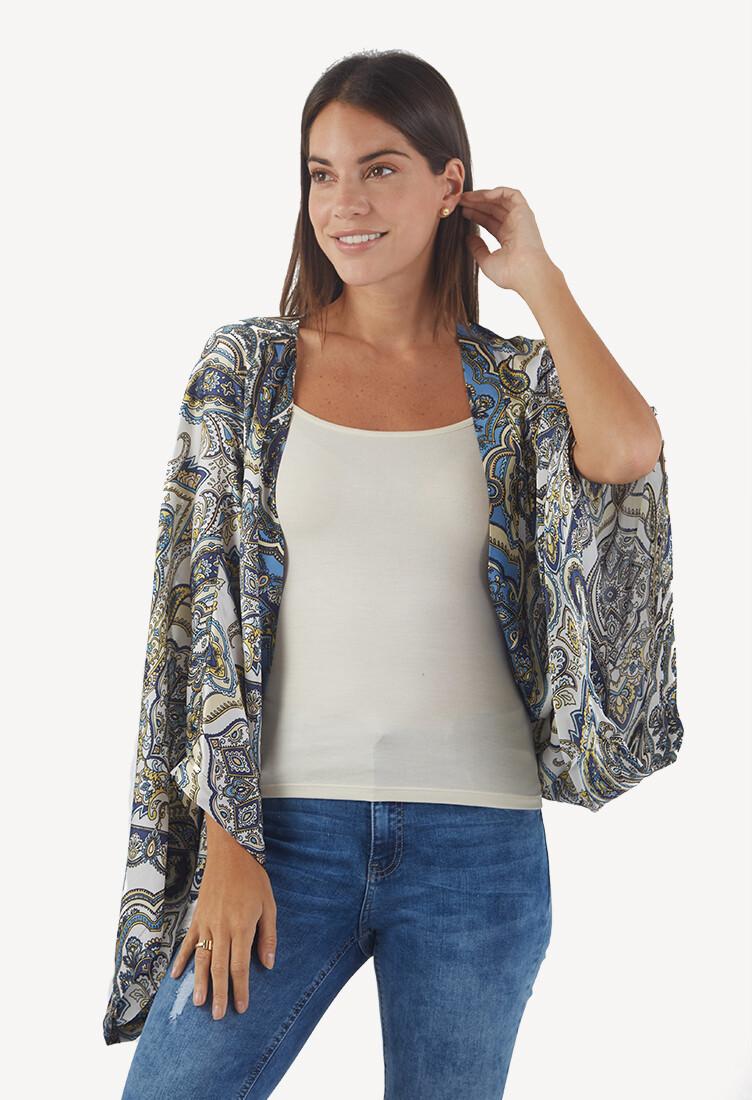 Cárdigan estilo Kimono estampado