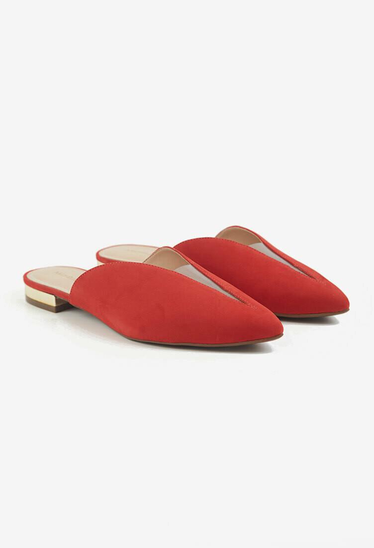 Zapatos en punta rojos
