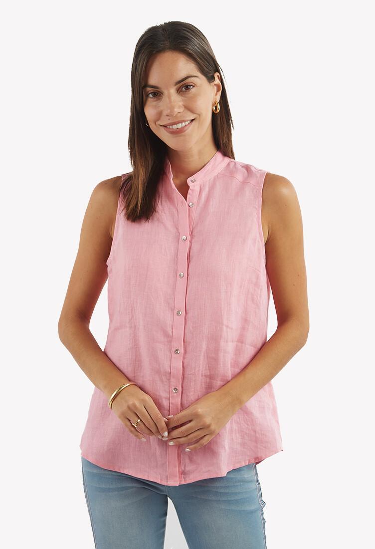 Blusa rosada con botones