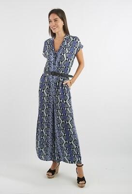 Enterizo estilo kimono estampado azul
