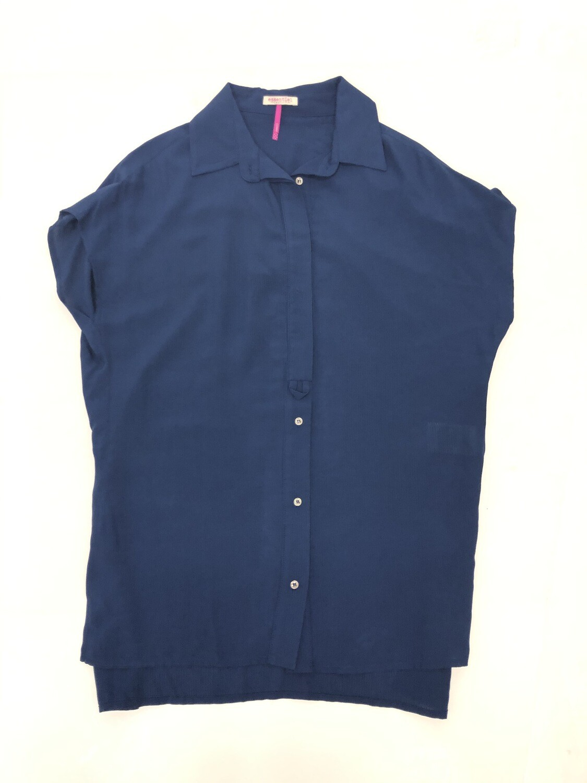 Blusa manga corta color azul