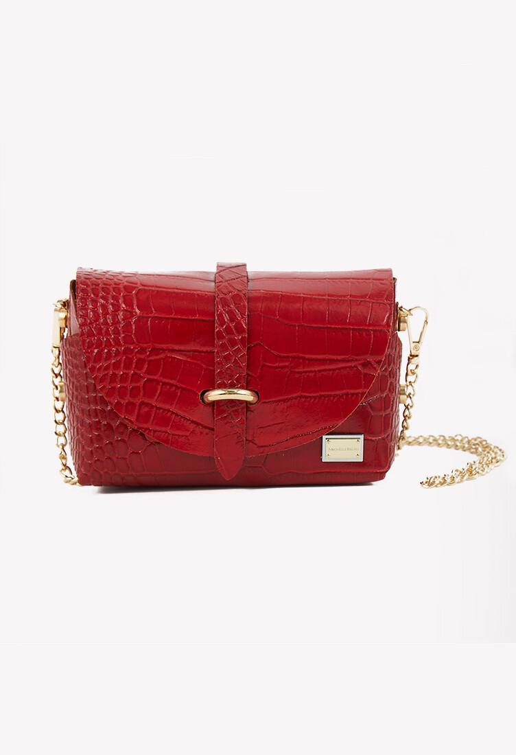 Petit bag de cuero color rojo
