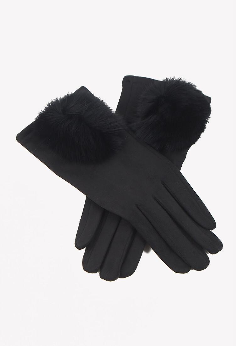 Guantes color negro con detalles