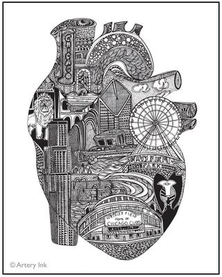 Heart of Chicago Photo Print (11x14)