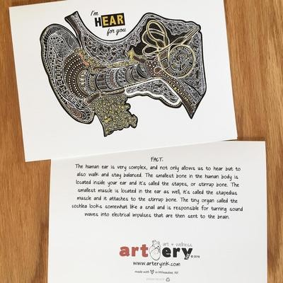 Metallic Ear - Any Occasion Card