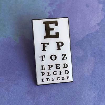 Snellen Ophthalmology Chart Pin