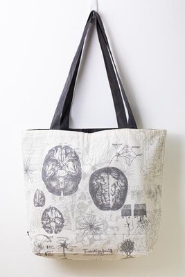 Brain Anatomy Canvas Shoulder Tote