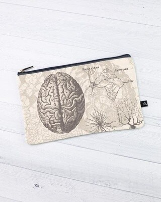 Brain Anatomy Zip Case