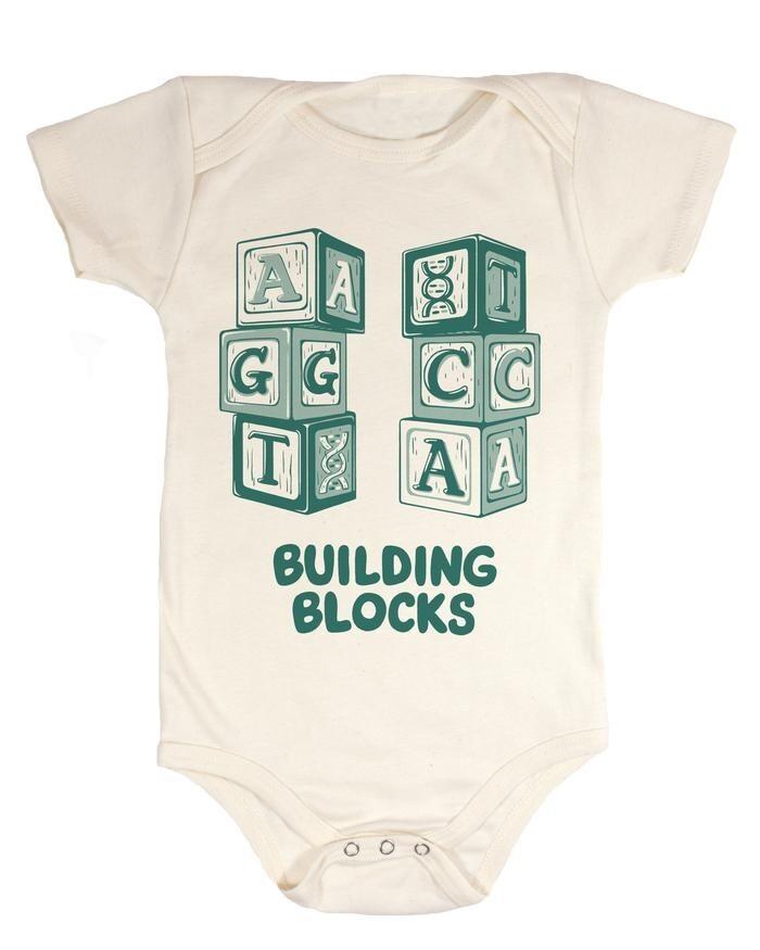 DNA Building Blocks Baby Onesie