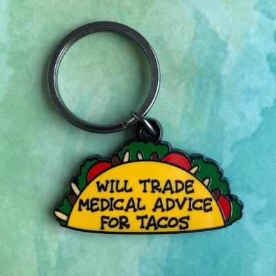 Medical Advice for Tacos Keychain