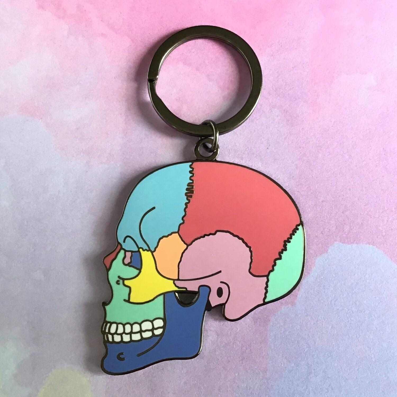 Textbook Anatomy Skull Keychain