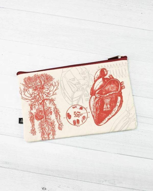 Heart Anatomy Zip Case