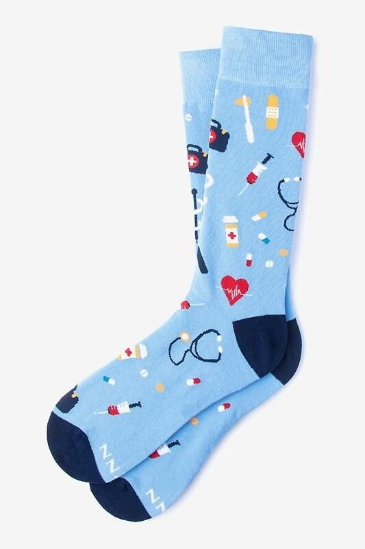 Medical Supplies Light Blue Socks