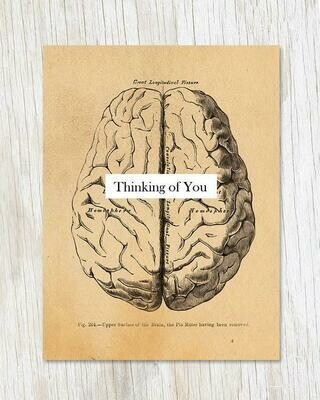 Thinking Of You: Vintage Brain Card
