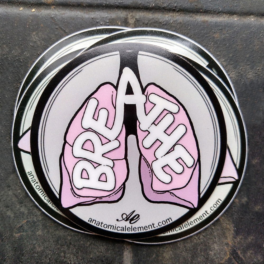 Anatomical Element BREATHE Lungs Sticker