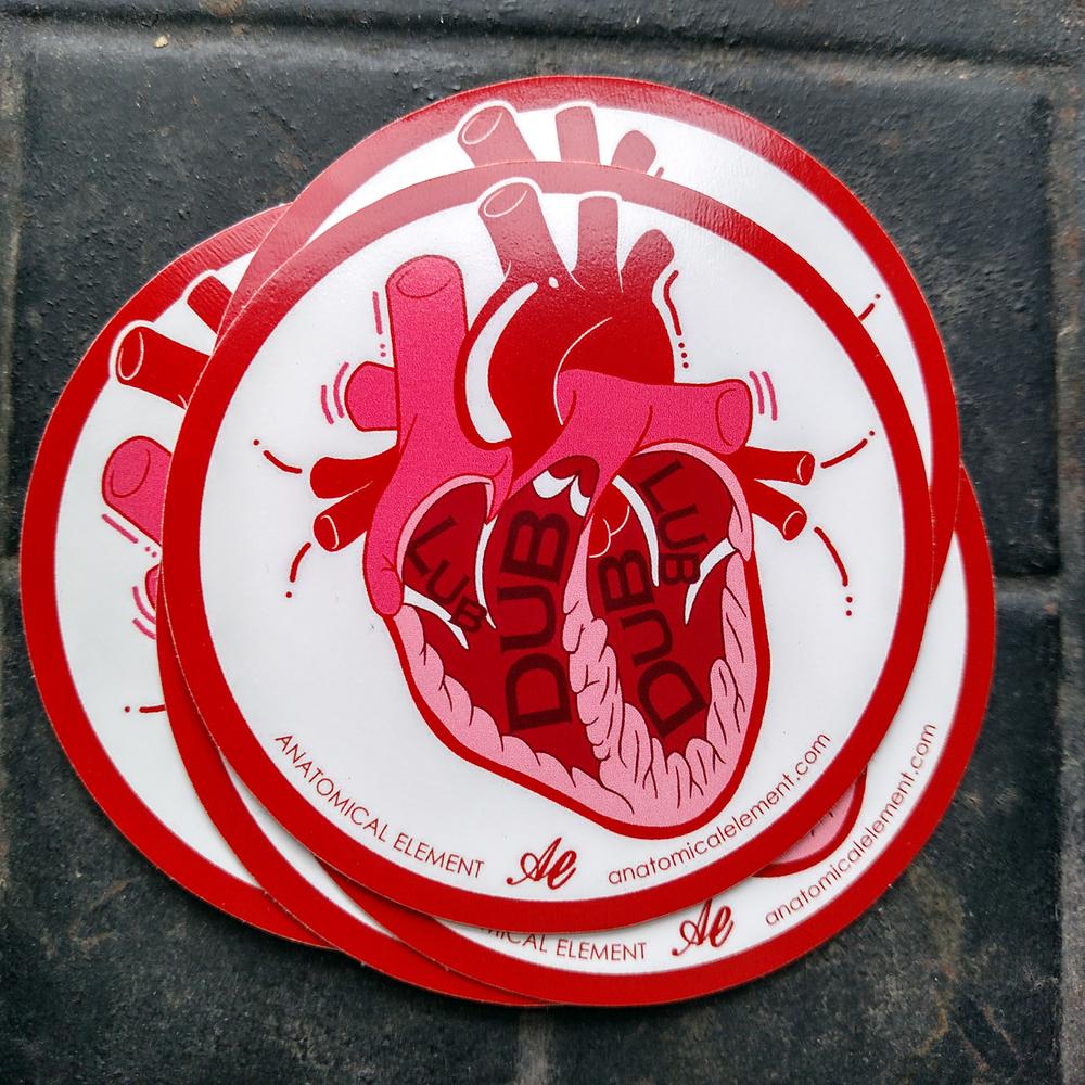 Anatomical Element LUB DUB Heart Sticker