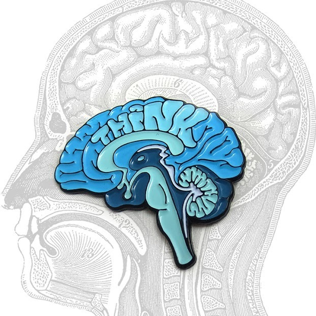 Anatomical Element THINK Brain Pin