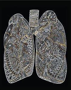 Metallic Lungs - 8x10 Print