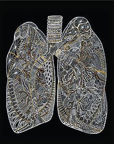 Metallic Lungs - 8x10 Print
