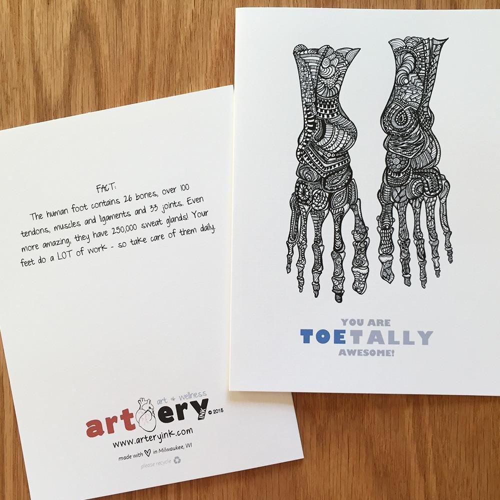 Toes - Any Occasion Card