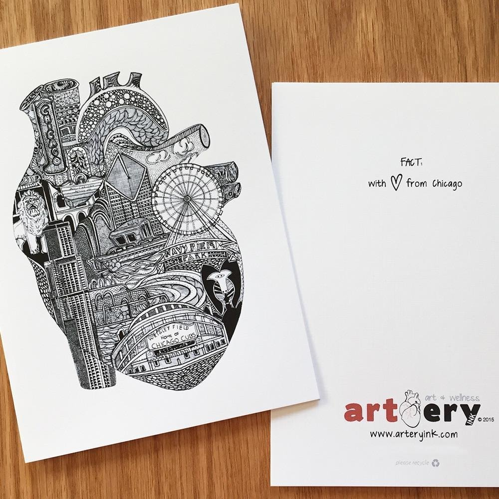 Heart of Chicago - Any Occasion Card