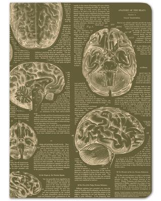 Green Brain Softcover Notebook - Dot Grid