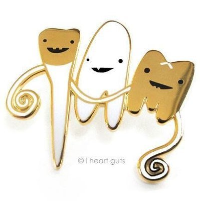 Teeth Lapel Pin - Flossin' Ain't Just For Gangstas