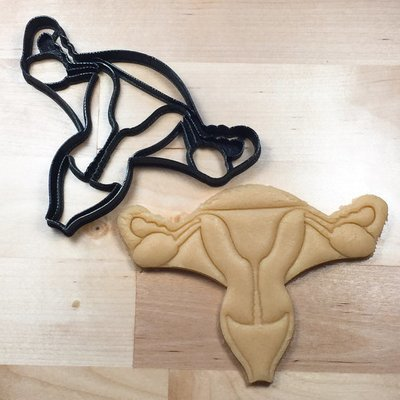 Anatomical Uterus Cookie Cutter