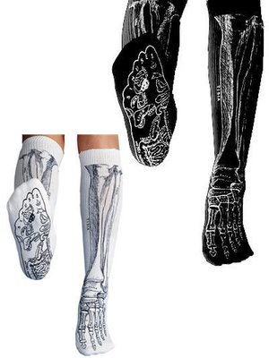 Anatomical Bone Socks - Black
