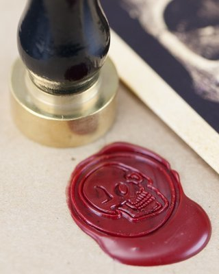 Human Skull Wax Seal Kit
