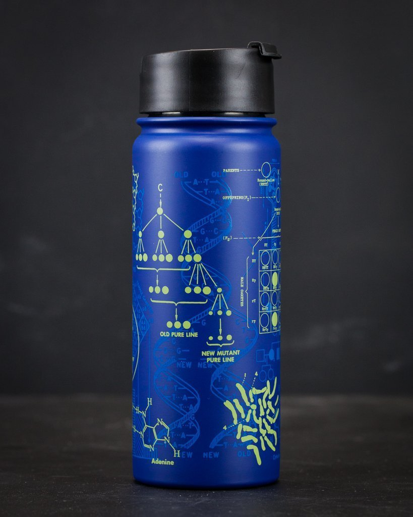Genetics: DNA Stainless Steel Vacuum Flask