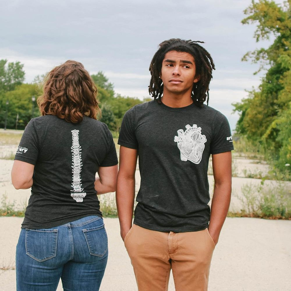 Heart & Spine Unisex T. Shirt