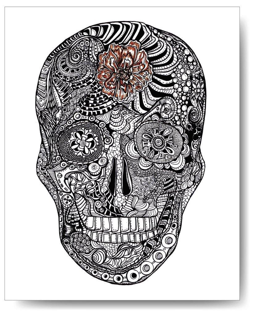 Front Skull - 8x10 Print