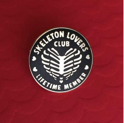 Skeleton Lovers Club Pin